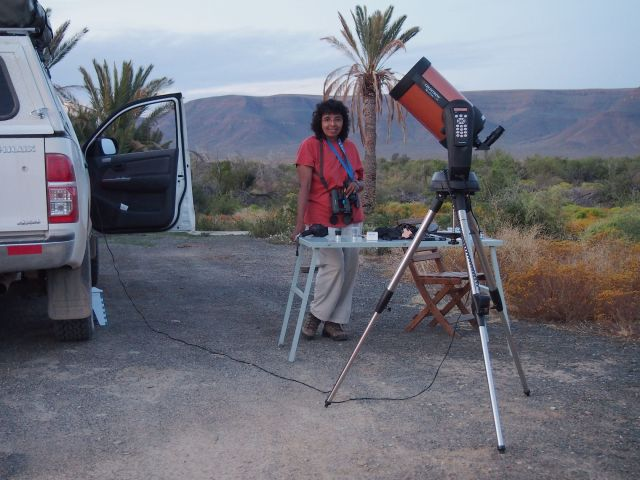 Celestron Nextstar 8 SE telescope at Cottage 1, Tankwa Karoo National Park, South Africa