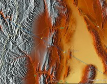 Shaded relief for same area as in previous slide - east of Andes.