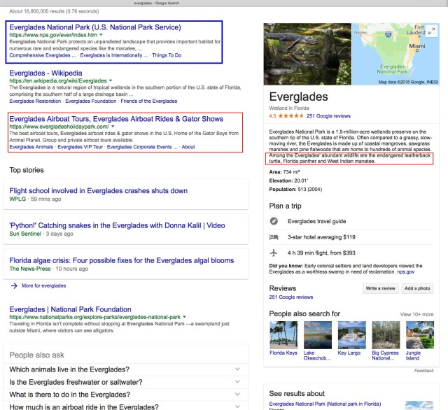 everglades google search