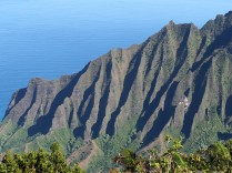 Steep cliffs of the Napali Coast of the northwest side of Kauai