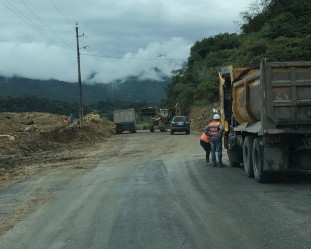 Expect road clearing during the rainy season - this is all year in the oriente.