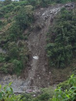 Landslide - note the car for scale in the rectangle at bottom.