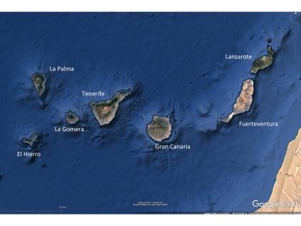 The main Canary Islands.